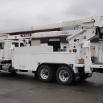 Aerial man lift extended boom