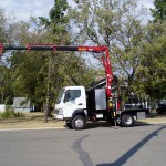Small Articulating Crane Truck
