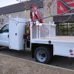 Articulating Crane On Truck