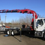 Truck with Articulating Crane Attachment
