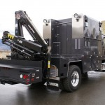 Articulating Crane Mounted on Truck