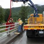 Articulating Crane In Action