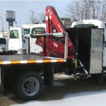 Articulating Crane On Flat Bed Truck