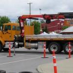 Articulating Crane Truck