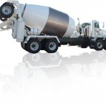 Cement mixer truck attachment