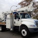 Commercial truck digger derrick attachment