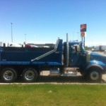 Blue Dump Truck With Box