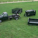 Compatible equipment for truck hooklifts.