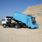 Hooklift equipment for trucks carrying containers.