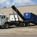 Hooklift attachments for trucks.