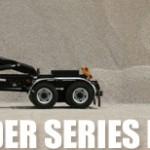 Slider series hooklift equipment for commercial trucks.