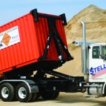 Stellar hooklift attachment for trucks.