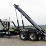 Hooklift equipment for trucks.