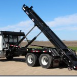 Hooklift attachment for trucks.