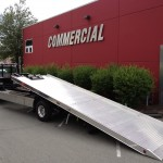 Commercial Tow Truck with Ramp