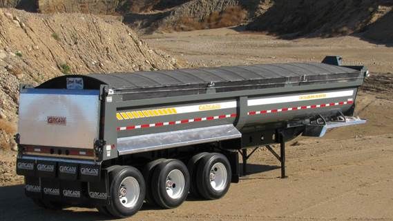 33' AR200 Tri-Axle Gravel End Dump