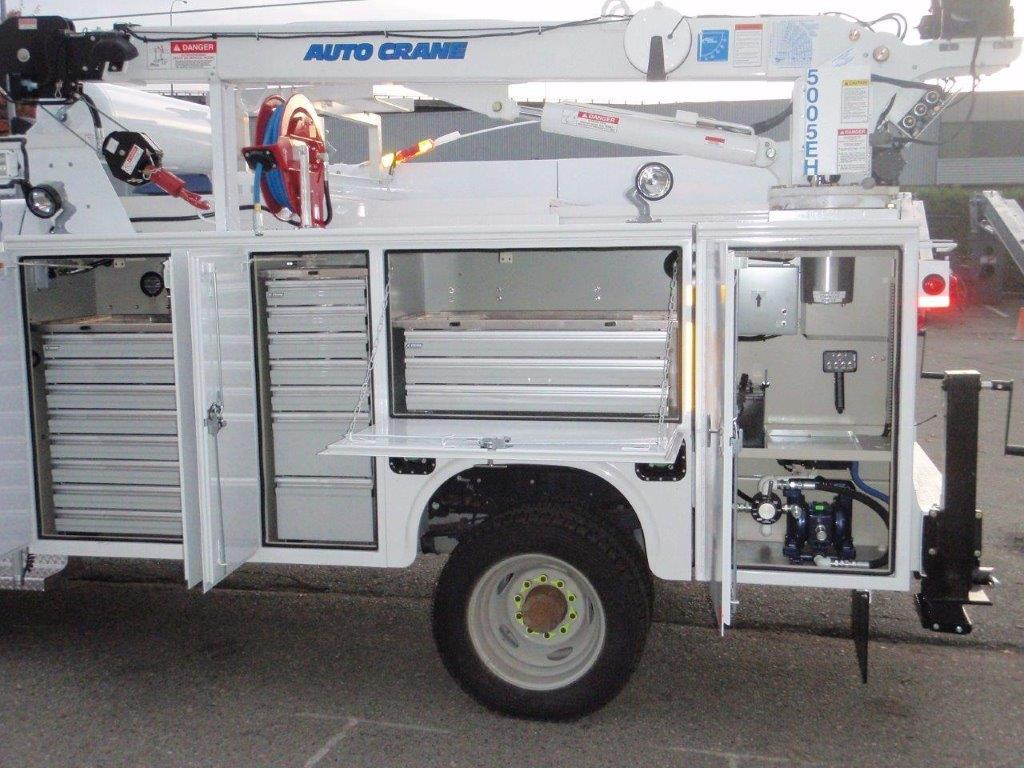 Utility Bodies Parts Lock : Service truck bodies tool storage mining utility