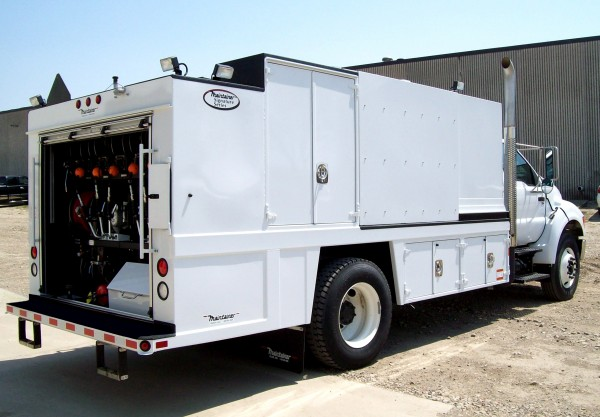 Service Body Tool Cabinet : Tool storage for service truck