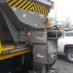 Salt dispenser truck equipment