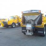 Road deicer truck attachment