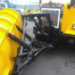 Snow plow shovel attachment for trucks