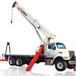 Active stiff boom crane mount