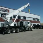Extended stiff boom crane