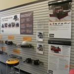 Truck hydraulic on display.