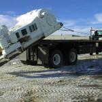 Truck with heavy duty winch.