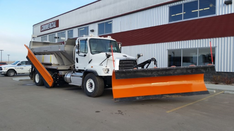 Monroe Snow Plow & Spreader on Freightliner 114SD