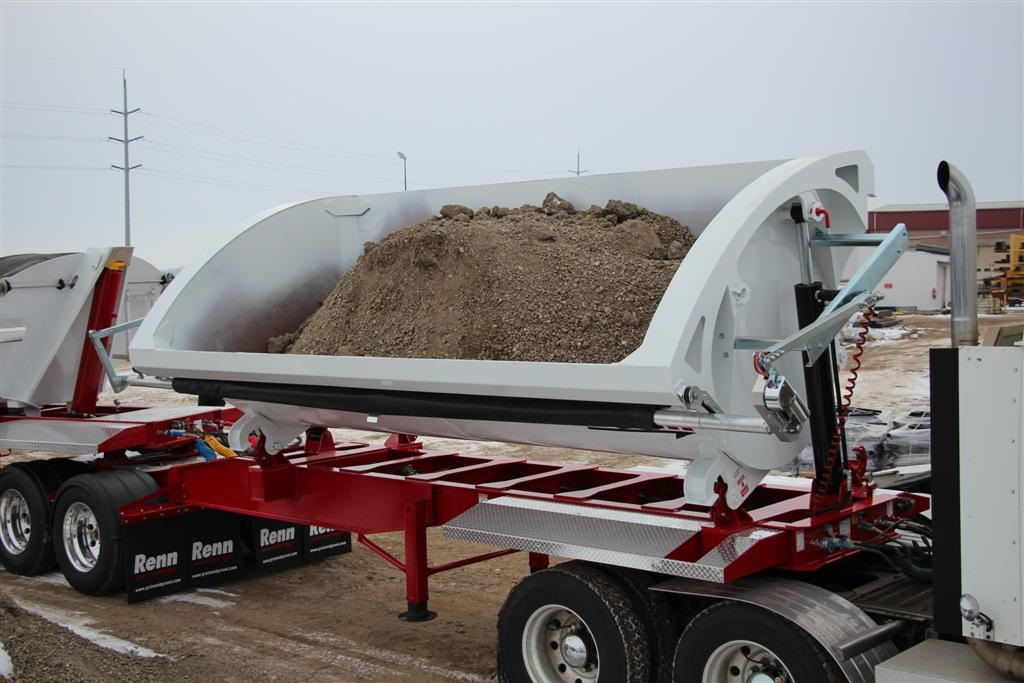 Tandem Side Dump Gravel Trailer