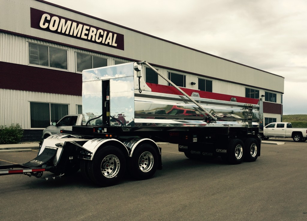Cancade 25′ Aluminum Quad Wagon End Dump Trailer