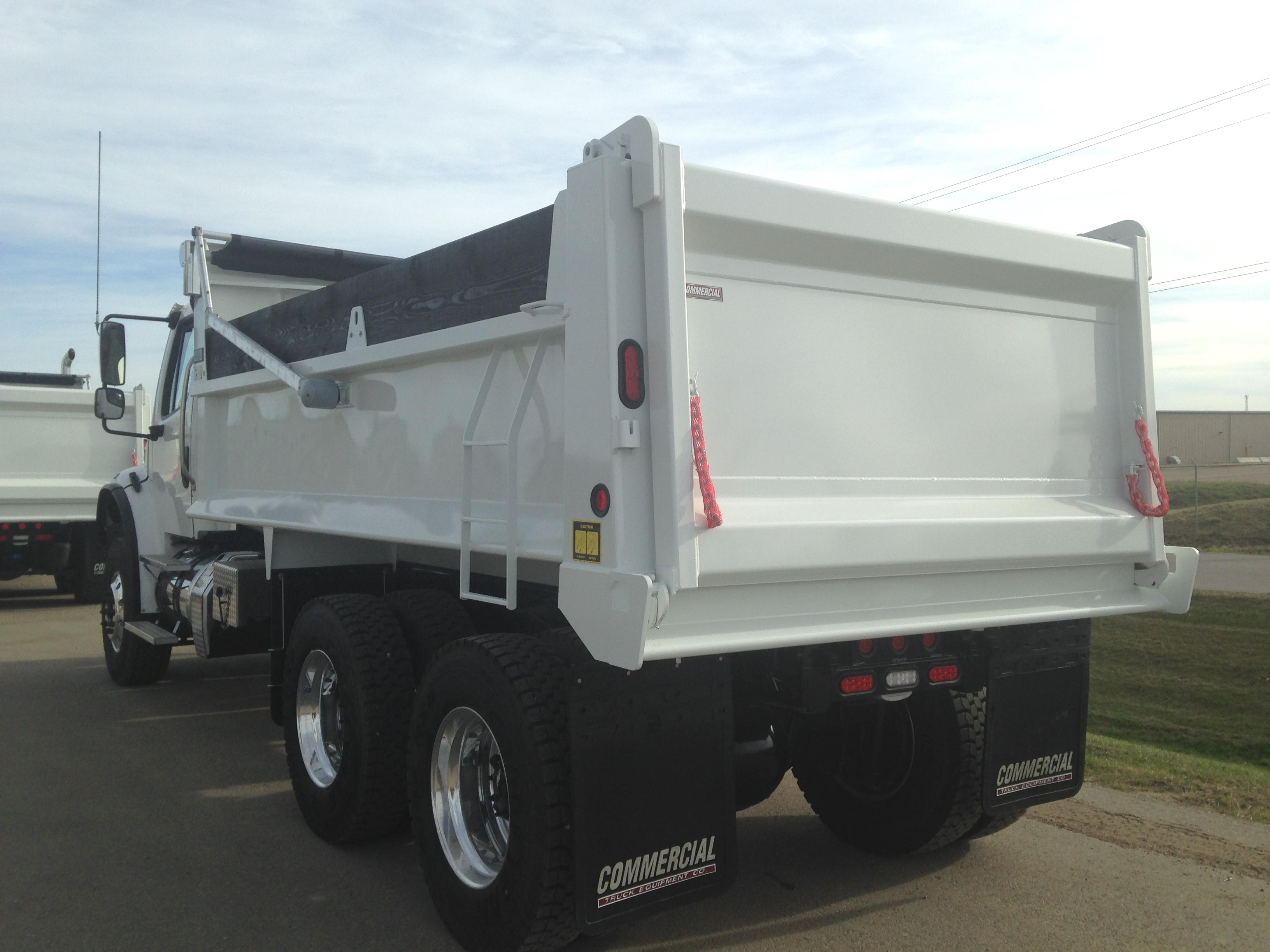 1 Ton Dump Truck Boxes : Bibeau mhd gravel box on freightliner m