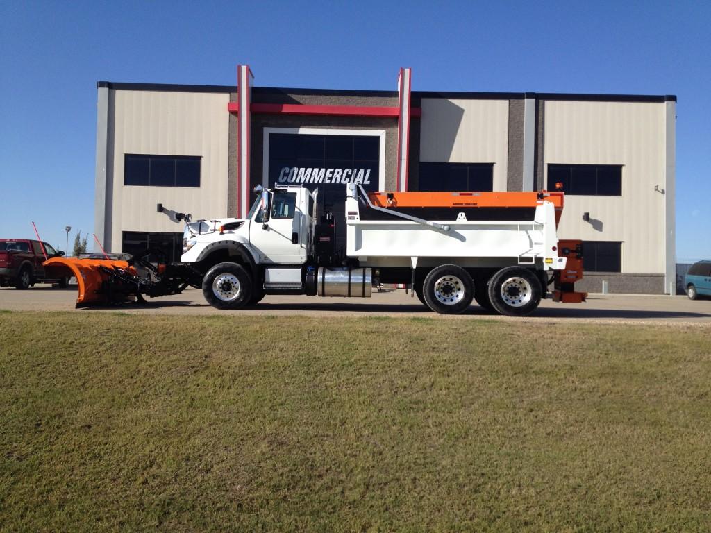 Monroe Plow & Sander / Bibeau Dump Body on International 7600 SBA