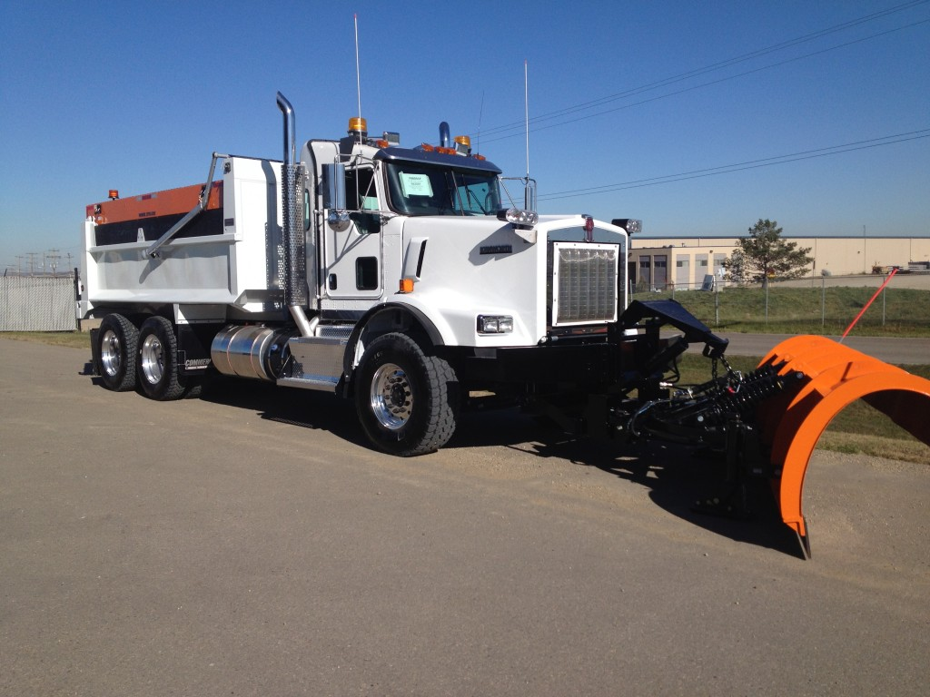 Monroe Plow & Sander and Bibeau Dump Body on Kenworth T-800